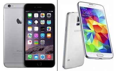 Apple iPhone 6 VS Samsung Galaxy S5 – битва титанов